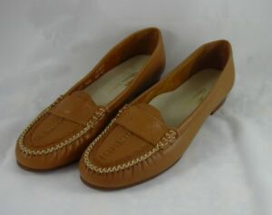 Oldmaine-Trotters-Tan-Slip-on-Loafer-Moccasins-Shoes-Womens-8N-Flats