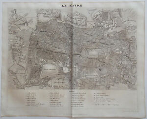1838 ORIGINAL MAP OF THE CITY OF CAIRO, EGYPT by DUFOUR & GAVARD | eBay