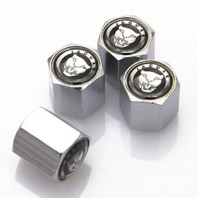 4PCS Universal Car Wheel Tire Valve Stem Cap Emblem Keychain Fits For Jaguar