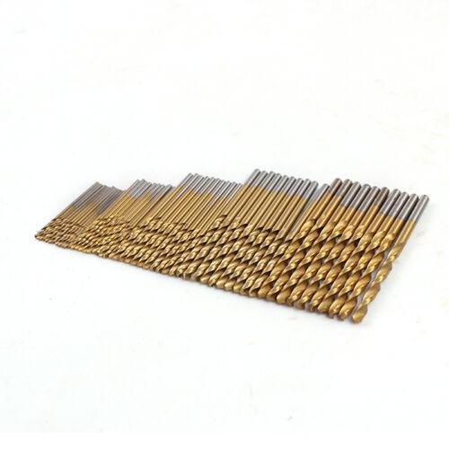 jeu de foret hélicoïdal bois de foret revêtu titane HSS acier haute 50 pièces
