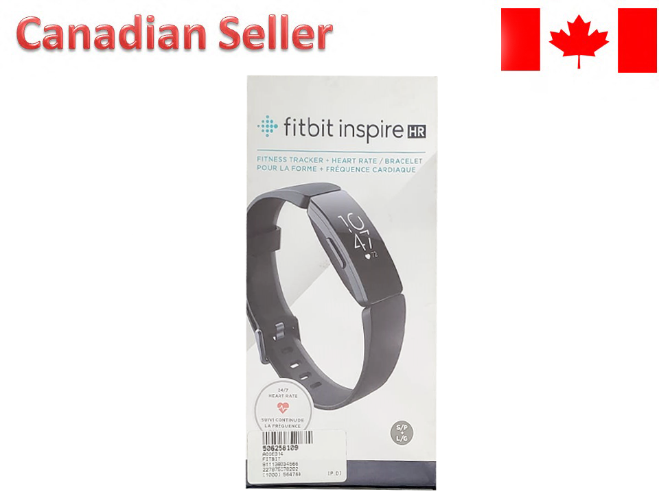 Fitbit Inspire HR Fitness Tracker + Heart Rate 24/7 Heart Rate Tracking Black