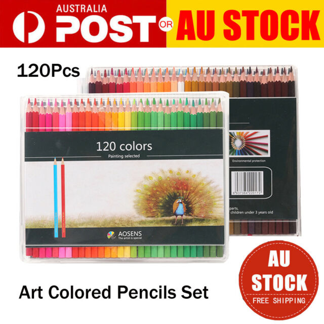 120pcs Art Colored Pencils Set Artist Painting for Adult Kids Coloring Book