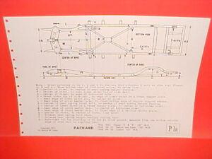 1946 1947 1948 1949 1950 Packard Clipper 6 8 Super Custom Frame Dimension Chart Ebay