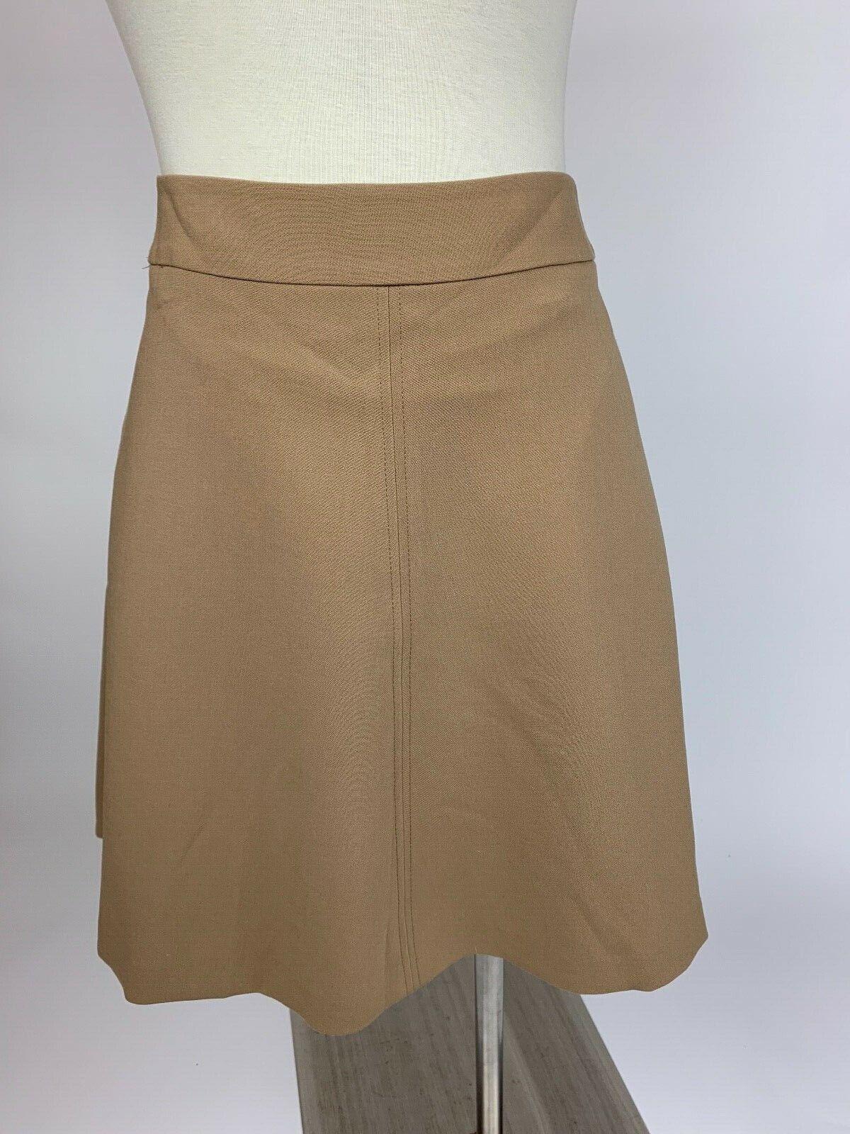 Ann Taylor Loft Camel Tan Aline Flare Skirt 2 Excellent