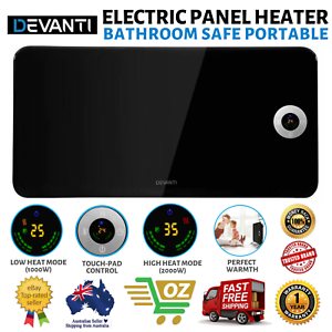 Electric Panel Heater Bathroom Safe Portable Free Standing ...