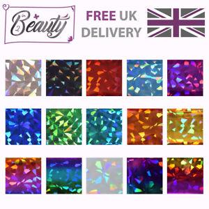 Nail-Art-Transfer-Foil-Foils-Wraps-Glitter-Decal-Holographic-Diamond-1m-multi-15