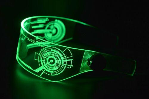 Cyberpunk LED Tron Visor Glasses Cosplay Festivals Cybergoth