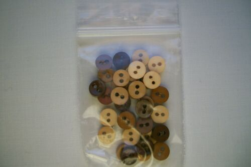 Crafts, Doll Clothes, Cards,Etc 25 /& 50 ct Small Mini 7 mm 2 Hole Flat Buttons