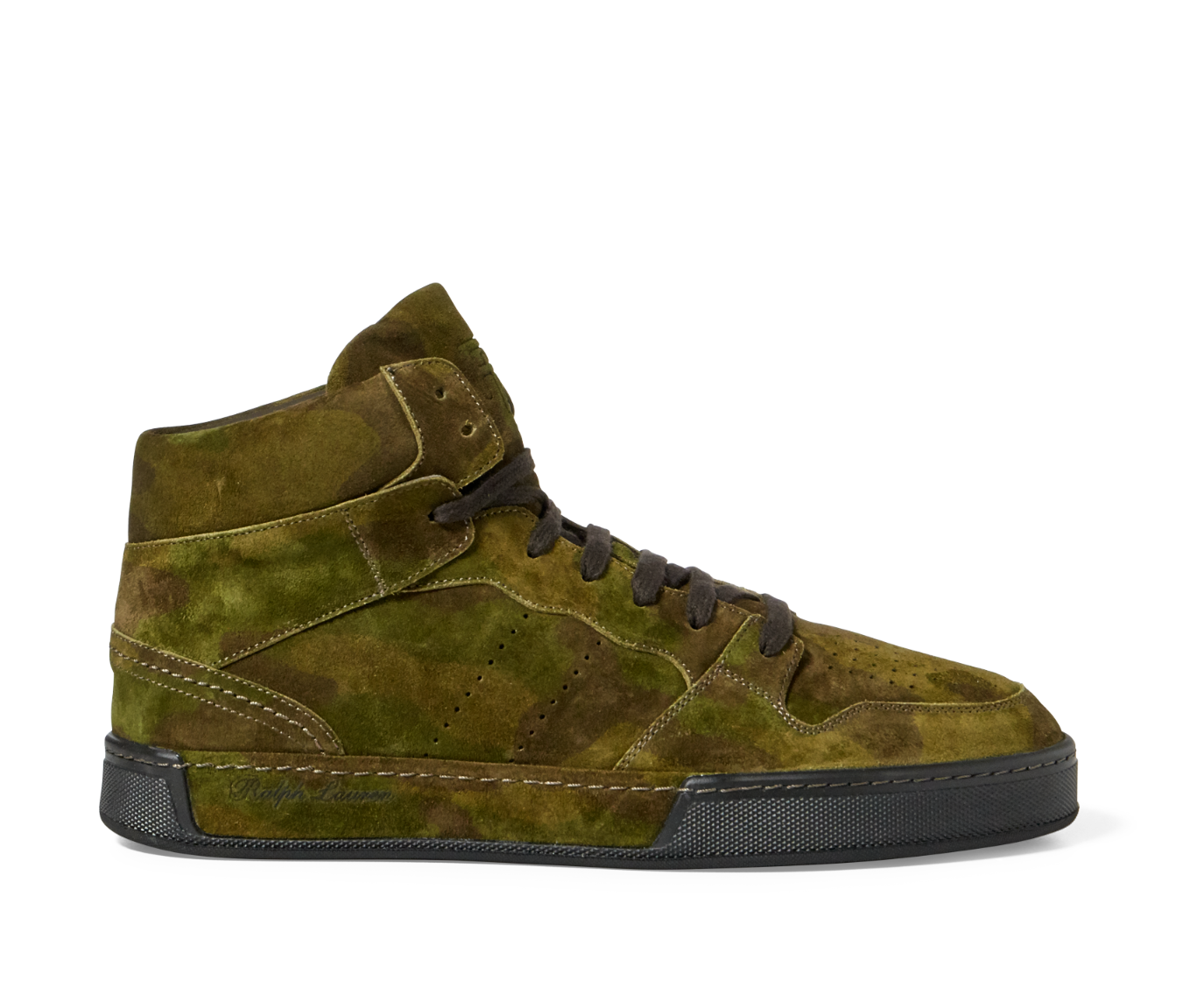 Scarpe casual da uomo  Ralph Lauren Purple Label Giancarlo Suede Leather Camo Sneakers New $850