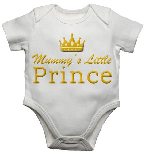 Mummys Kleiner Prinz Lustig Personalisiert Baby Weste Neugeborenes Body//Wachsen