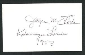 Joyce-Lucky-Steele-signed-autograph-3x5-index-card-AAGPBL-Baseball-Player-AA026