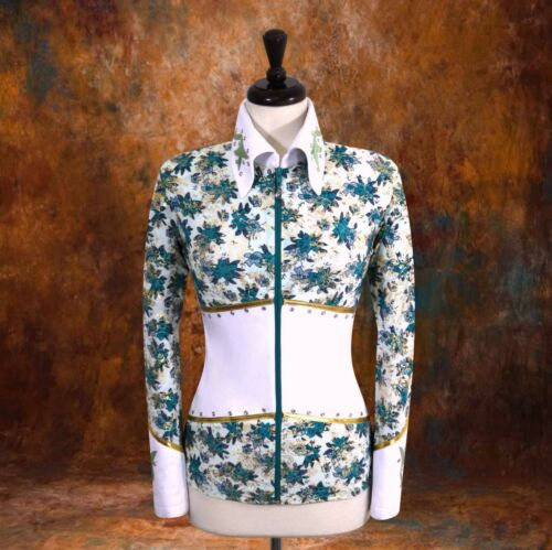 X-LARGE Showmanship Pleasure Horsemanship Show Jacket Shirt Rodeo Queen Rail Top