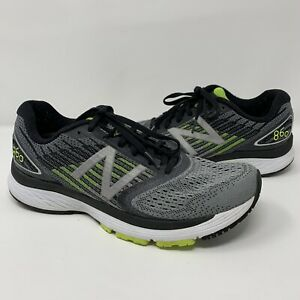 Details about New Balance 860v7 Running Shoes Gray Yellow Men's Size 8.5 Sneakers Laces