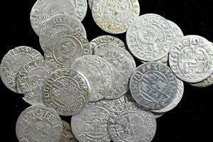Einer-mittelalterlichen-Polen-Silber-1-24-Thaler-Polker-sehr-guter-Zustand