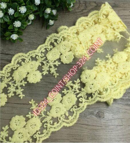 HB03 12cm,1 Yard Dress Skirt Handicrafts Embroidered Net Lace Trim Ribbon cotton
