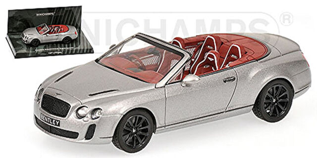 Bentley Continental Supersports Convertible 2009-13 Gris Gris Metálico 1:43