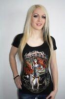 Barmetal Clothing Gangster Scoop Neck Womens Heavy Metal T Shirt Size Medium