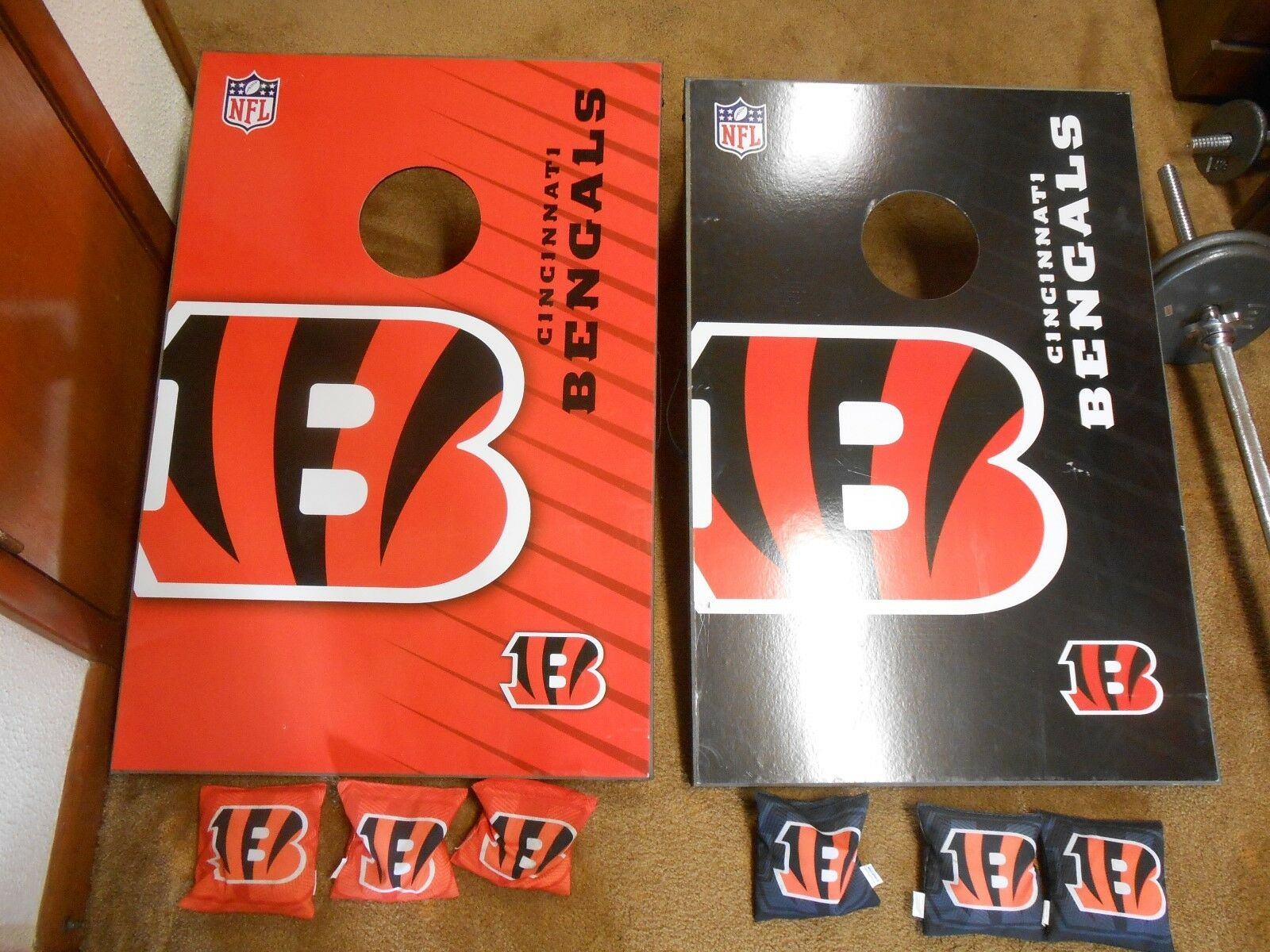 Great  CINCINNATI BENGALS Cornhole Bean Bag Throw TOSS Game with Legs-6 Bean Bags  selling well all over the world