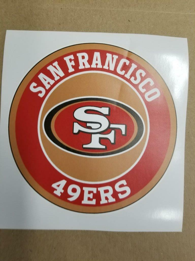 49ERS cornhole board or vehicle decal(s)491
