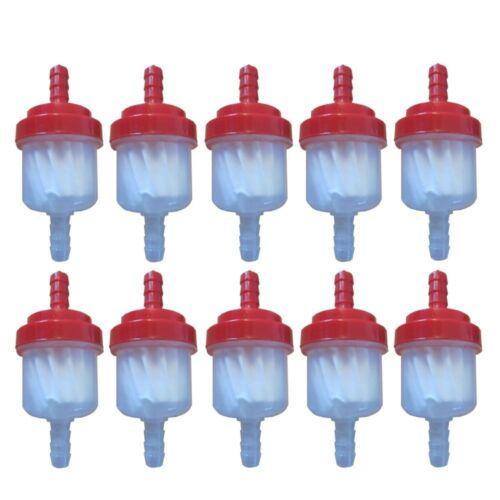 10 x Benzinfilter Kraftstofffilter 6mm Auto Motorrad ATV Roller Magnetisch Rot