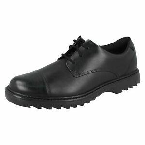 Asher Soar Y' Black Leather Older Boys