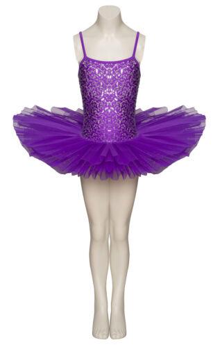 Purple Sparkly Tutu With Silver Sequins Dance Ballet Costume Tutu By Katz