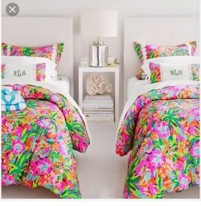 Image Is Loading Lilly Pulitzer Lulu Print Twin Duvet Cover Only