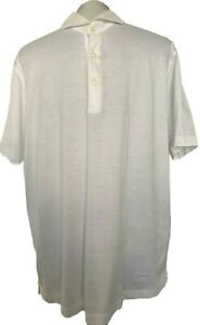 GRAN-SASSO-MEN-039-S-WHITE-POLO-SHIRT-54-295