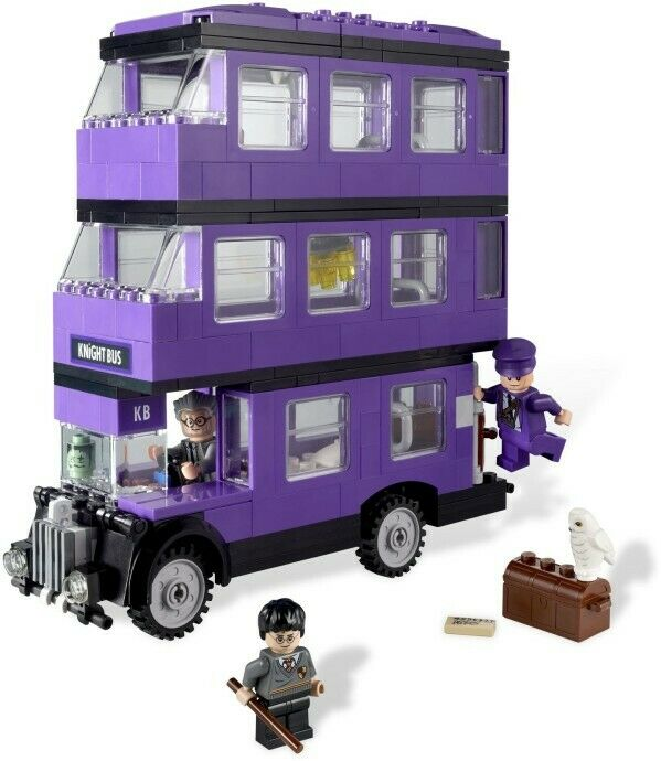 LEGO Harry Potter  Set  4866 Knight Bus  100% Complete w  Manual  Free Ship