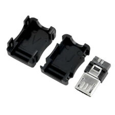 10PCS Micro USB Type B Male Plug Connector Kit with Plastic Cover for DIY mw01