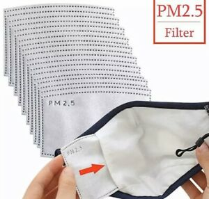20 Pack 2.5PM Activated Carbon Filter Insert for Adult Face Mask Pocket