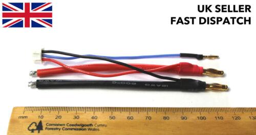 Balance Li-Po Ladekabel Kabel 2S Bare Verzinnt bis 4mm /& 2mm Banane