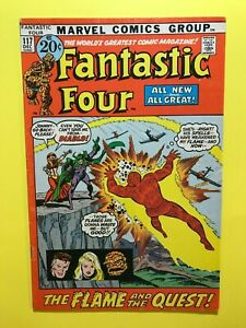 FANTASTIC-FOUR-117-THE-FLAME-AND-THE-QUEST-Marvel-DEC-1971-Good