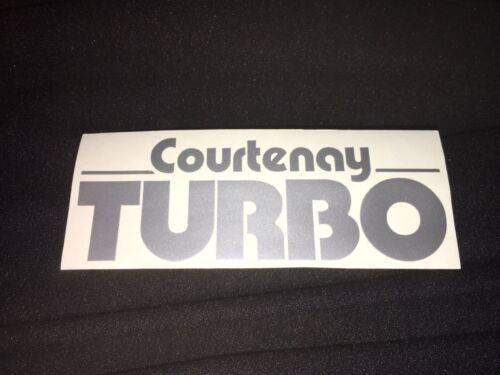 Courtenay Turbo VXR Astra Corsa Courtenay Turbo Sticker Silver