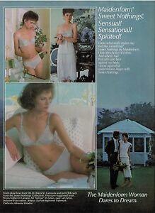 773cf4cedc Image is loading 1985-Sexy-Woman-MAIDENFORM-Bra-amp-Panties-Magazine-