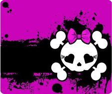 Purple Girl Skull Mouse Pad