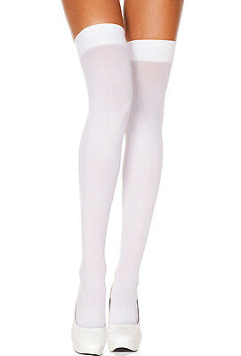 Opaque Thigh High Stockings 10 Colors Music Legs One Size: Regular Thigh-Highs