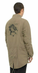 Huf-Worldwide-Windbreaker-Jacket-Jacke-Feels-Good-Fish-Tail-Parka-Olive-Drab-M