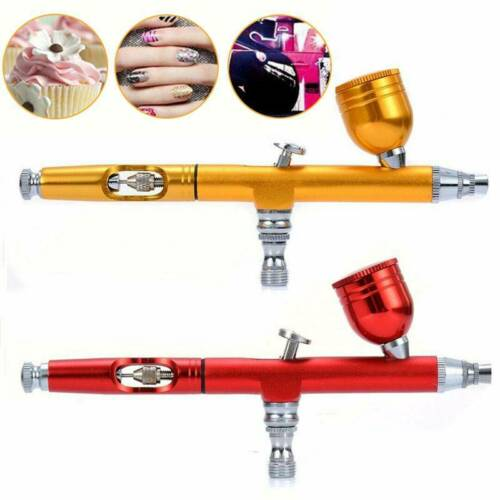 Dual Action Gravity Feed Airbrush 0.3mm Spray Gun Pro Nail Art Paint Tattoo Tool