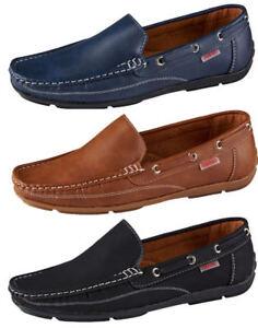 Herren-Schuhe-Mokassins-Slipper-Blau-Braun-Schwarz-Gr-39-40-41-42-43-44-45
