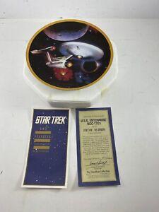 Star Trek The Voyagers USS Enterprise NCC-1701 Plate Hamilton Collection