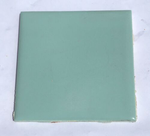 1 Sq Ft Salvaged /'Suntile/' 4x4 Vintage Tile in Matte Spruce Green