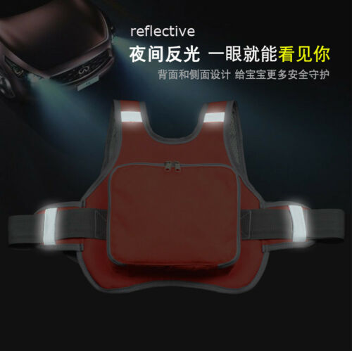Kid Baby Motorcycle Safety Seat Strap Harness Belt Buckle Reflective Protection
