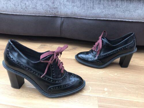 7 99 Narrative 5d Rrp 1 2 79 7 £ Myth negros Leather Clarks Blues Zapatos Brogues D wRfC17