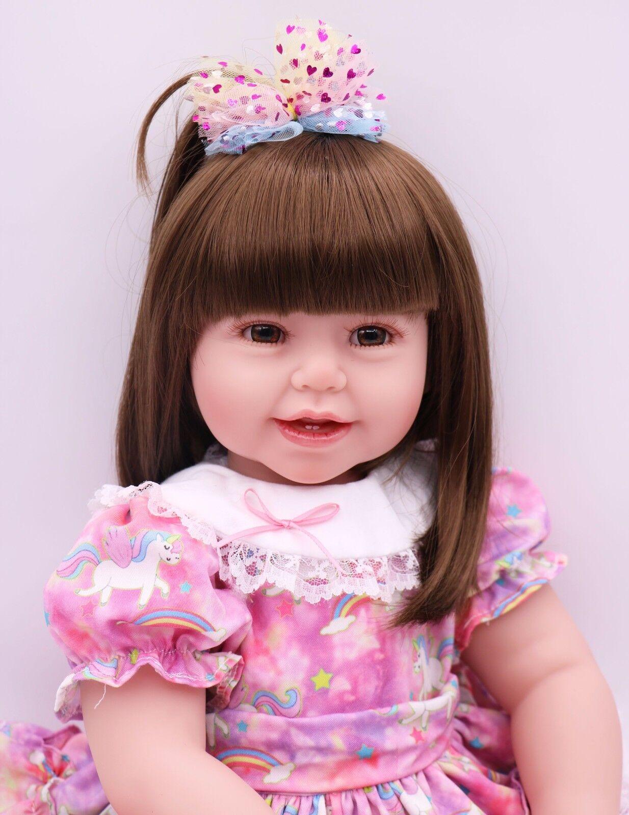 Nuevo Lindo Silicona Reborn Baby Toddler De Vinilo De 24  Muñecas realista muñecas Hedi Regalo