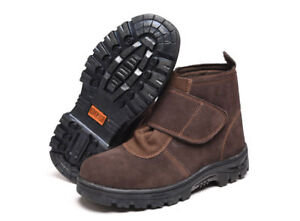 43355cea2ee Details about Men's Leather Welder Shoes Steel Toe Welding Boots Waterproof  Work Safety Shoes