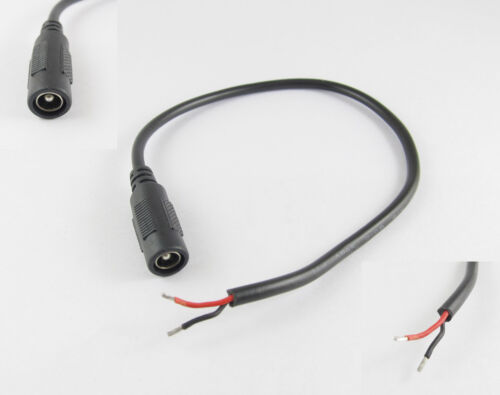 1x DC Power Connector 5.5 x 2.5mm Female Jack With Cord Cable CCTV 30cm 1ft