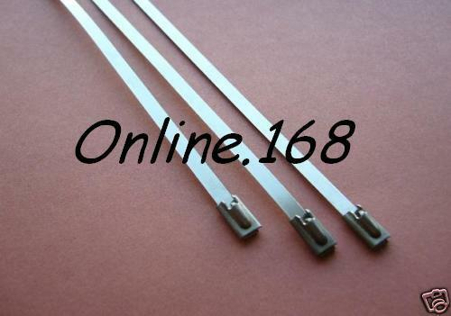 Stainless Steel Cable Ties Heat Wrap 200pcs_ 4.6mm x 200mm FREE P&P Half price!