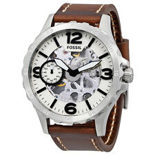 Fossil Nate Brown Leather Band Mens Automatic Watch ME3128