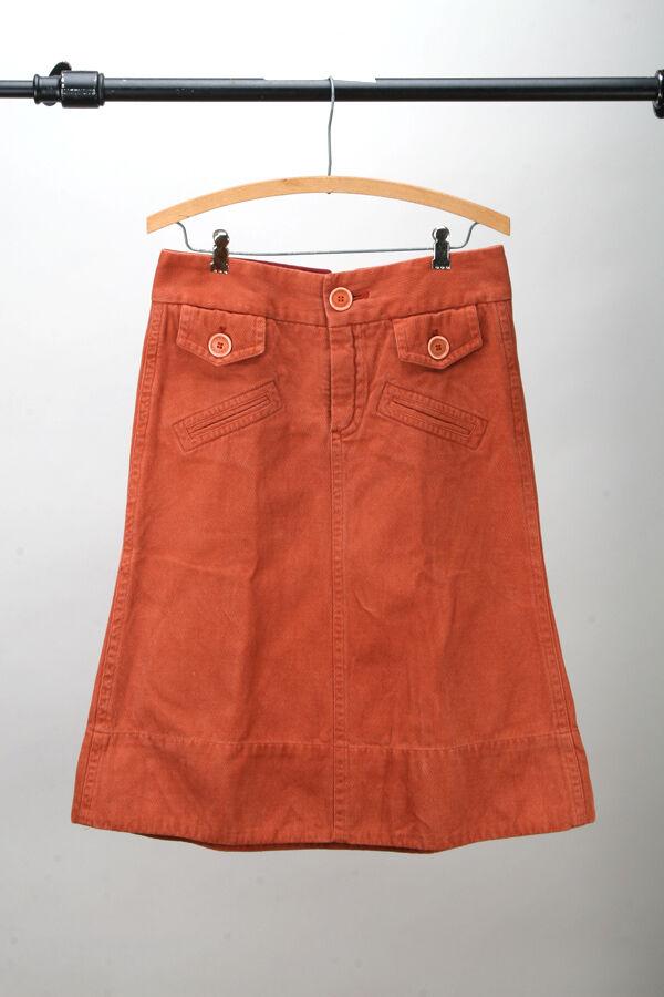 Marc Jacobs - 100% Cotton Knee Length Skirt - Burnt orange 4   Bohemian Boho